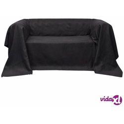 Vidaxl pokrowiec/narzuta na kanapę micro zamsz antracyt 210 x 280 cm