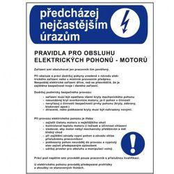 Zapobiegaj najczęstrzym urazom - zasady obsługi napędów elektrycznych (silników) - sprawdź w wybranym sk