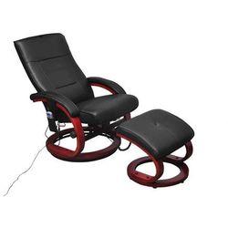 vidaXL Fotel TV, elektryczny fotel do masażu w kolorze czarnym