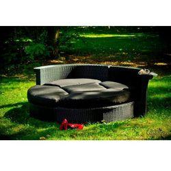 Łóżko ogrodowe ricco czarne (lo.001.007) marki Bello giardino