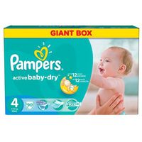 Pampers Active Baby Giant Pack+ Maxi