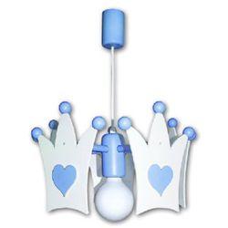 WALDI Abażur Korona kolor biały/jasnoniebieski