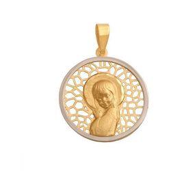Złoty medalik - 38151 - pr.585 wyprodukowany przez Rodium