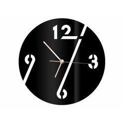 Zegar z pleksi na ścianę cyfry ze złotymi wskazówkami marki Congee.pl