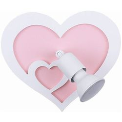 Kinkiet Nowodvorski Heart I 9062 lampa ścienna oprawa sufitowa 1x50W GU10 biała/różowa (5903139906296)