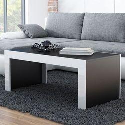 Stolik kawowy tucson 120 - czarny   biały marki High glossy furniture