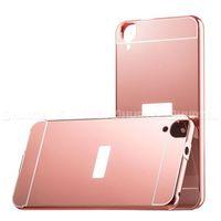 Aluminiowe etui lusterko Metal Mirror Bumper HTC Desire 820 różowe - Różowy z kategorii Futerały i pokrow