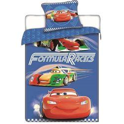 Jerry Fabrics Pościel bawełniana Cars Formula Racers, 140 x 200 cm, 70 x 90 cm