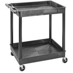 Wózek uniwersalny multi, dł. x szer. x wys. 920x640x960 mm, 2 piętra, czarny. od marki Seco