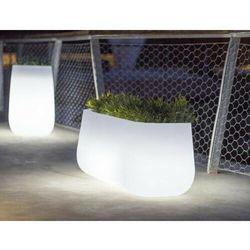 Sofa.pl New garden donica camelia high solar biała - led, sterowana pilotem