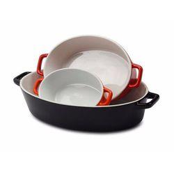 3el. żaroodporne owalne naczynia ceramiczne do zapiekania / 06-002 marki Royalty line