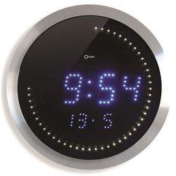 Zegar ścienny CEP LED, 30cm, niebiesko-srebrny, kolor niebieski
