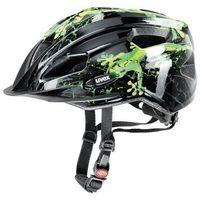 Kask rowerowy  quatro junior czarno-zielony od producenta Uvex