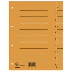 Przekładki , karton, a4, 235x300mm, 1-10, 10 kart, pomarańczowe marki Donau