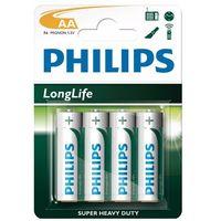 4 x bateria cynkowo-węglowa  longlife r6 aa (blister) wyprodukowany przez Philips