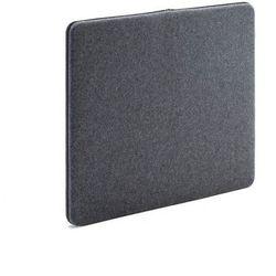 Ścienny panel dźwiękochłonny Zip 800x650 mm ciemnoszary czarny suwak, 129553