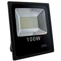 Zewnętrzny projektor olimp led 100w 02930  ścienna oprawa naświetlacz kinkiet do ogrodu outdoor ip65 czarny marki Ideus