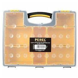 plastikowy organizer z wyjmowanymi pojemnikami - 420 x 335 x 105 mm marki Perel