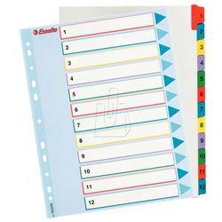 Esselte Przekładki kartonowe maxi 1-12 kart 100209 (5902812002096)
