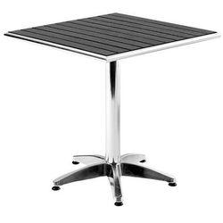 Stół kawiarniany o dł.700mm z tworzywa sztucznego imitującego drewno - produkt z kategorii- Stoły ogrodowe