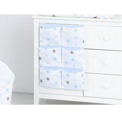 MAMO-TATO Przybornik organizer na łóżeczko Gwiazdki szare i niebieskie D