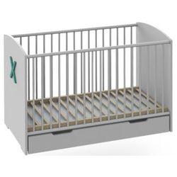 Białe łóżeczko dziecięce 120x60 - VX (zielony), towar z kategorii: Łóżeczka i kołyski