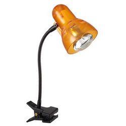 Lampka biurkowa z klipsem Globo Clip 1x40W E14 pomarańczowy 54852 (9007371158850)