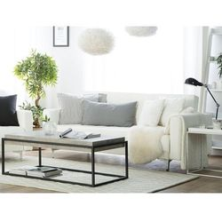 Sofa trzyosobowa skóra ekologiczna biała aberdeen marki Beliani