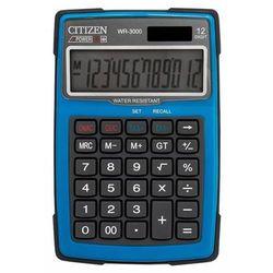 Kalkulator wodoodporny wr-3000, 152x105mm, niebieski marki Citizen