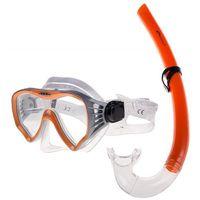 Spokey MOANA - Zestaw do nurkowania - Biało-pomarańczowy