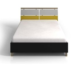 Drewniane łóżko do sypialni ze skrzynią vaxholm bc marki Skandica