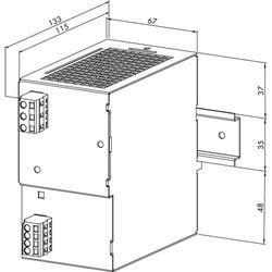 Zasilacz na szynę DIN WAGO 787-622, 24 V/ DC (SELV), 5 A, 120 W z kategorii Transformatory