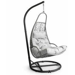 Modernhome Huśtawka ogrodowa, hamak, fotel wiszący, kosz, jasny szary (5903769972692)
