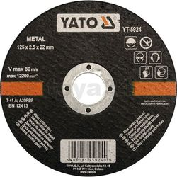 Yato Tarcza do cięcia metalu 125x2,5x22 mm / yt-5924 /  - zyskaj rabat 30 zł