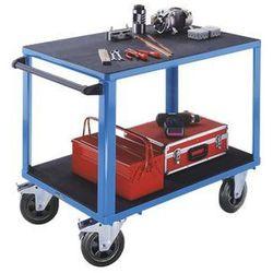 Eurokraft Wózek montażowy, 2 powierzchnie ładunkowe z tworzywa, pow. ładunkowa 1250x800 mm