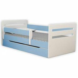 Łóżko dla chłopca z barierką Candy 2X 80x140 - niebieskie