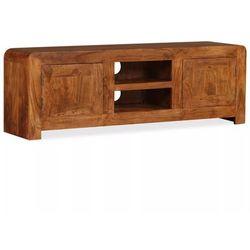 Vidaxl szafka pod telewizor, drewno o wyglądzie sheesham, 120x30x40 cm