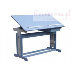 Biurko dziecięce regulowane, ławka, niebieska, towar z kategorii: Biurka