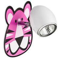 Kinkiet  lenny biało różowy tygrys marki Britop lighting