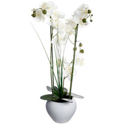 Sztuczna orchidee w ceramicznej doniczce, uniwersalna dekoracja, sztuczne kwiaty, ozdoba pokoju i biura (3560239260868)