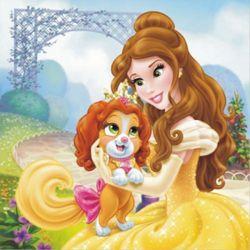 Obraz na płótnie disney księżniczki bella (30 x 30) marki Disney - dekoracje pokoju