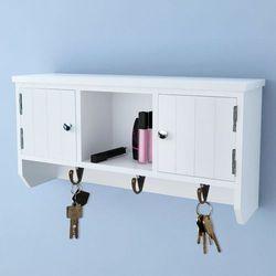 Vidaxl wisząca szafka na klucze i akcesoria z drzwiczkami wieszakami (8718475933311)