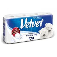 Papier toaletowy Velvet XXL biały 8 rolek, BP5911