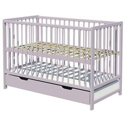 Piętrus łóżeczko dominik z szufladą szare