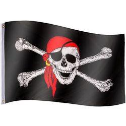 Flagmaster ® Flaga piracka bandera piratów 120x80 cm na maszt - piracka