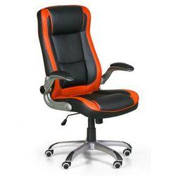 B2b partner Fotel biurowy inferno, czarno-pomarańczowy