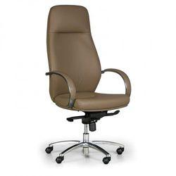 B2b partner Fotel biurowy axis, prawdziwa skóra, brązowy