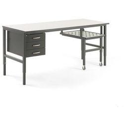 Stół roboczy cargo, z wysuwaną półką, 2000x750 mm, 3 szuflady marki Aj produkty