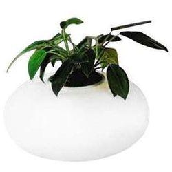Stojąca LAMPA stołowa FLORA AT6118-3L Azzardo szklana LAMPKA biurkowa donica doniczka biała ze sklepu =MLAMP.pl= | Rozświetlamy Wnętrza