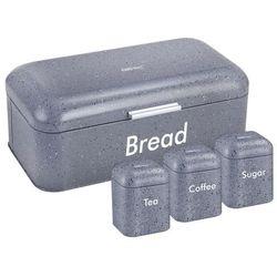 Chlebak /pojemnik na chleb z zestawem pojemników siwy marki Kinghoff
